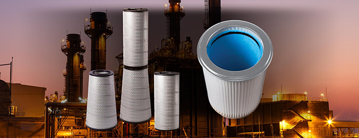 Canisters, cartridges, conical and cylindrical industrial air filters help clean intake air