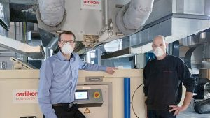 Wolf PVG with Oerlikon Nonwoven Meltblown Line