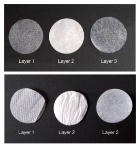Material layers for surgical and respirator facemasks