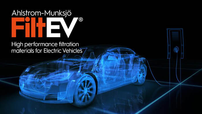 Ahlstrom-Munksjö launches FiltEV Electric Vehicle Filtration Line