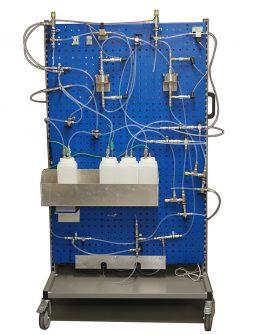 Truck fuel filter test rig