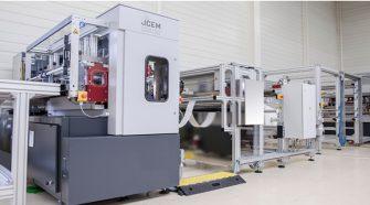 Blade pleating equipment from JCEM