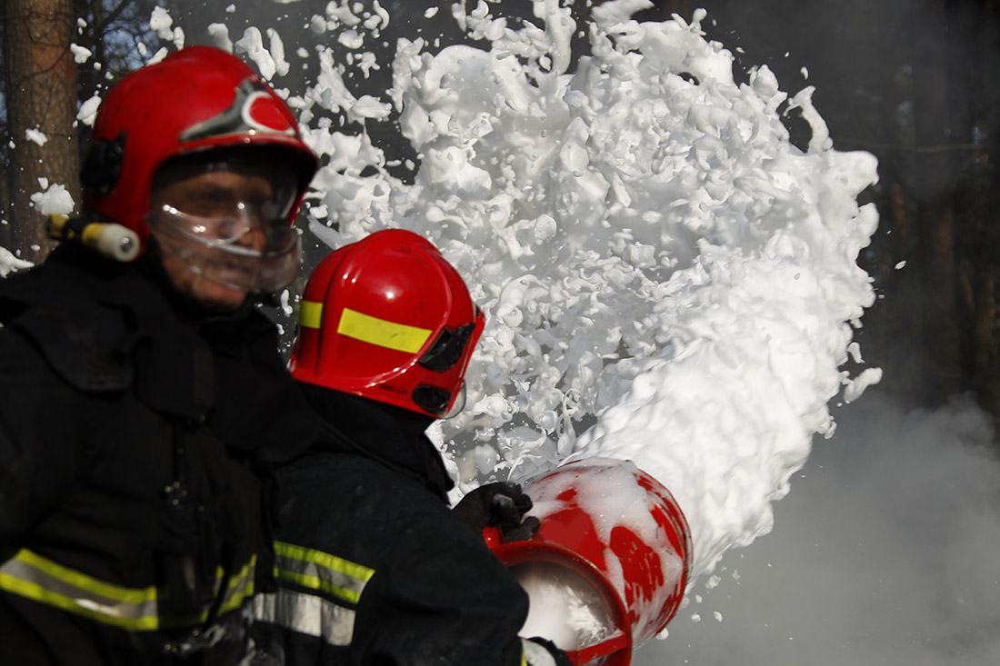 Firefighting foams are a primary source of PFAS pollution.