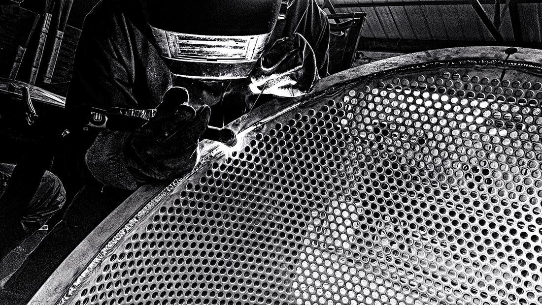 U.K. Croft Filters being welded