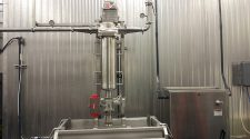 Spencer's GS-144-F (food-grade) is used to filter cooked meat fines from hot oil.