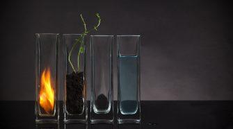 Elements water, soil fire, air