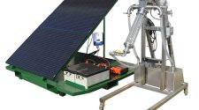 Spencer GS-72-F strainer unit, running on solar-generated battery power.