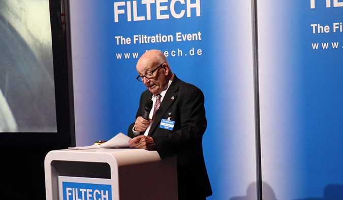 Filtech 2019 was opened, as always, by Mike Taylor, who was behind the very first show held at London Olympia in 1965.